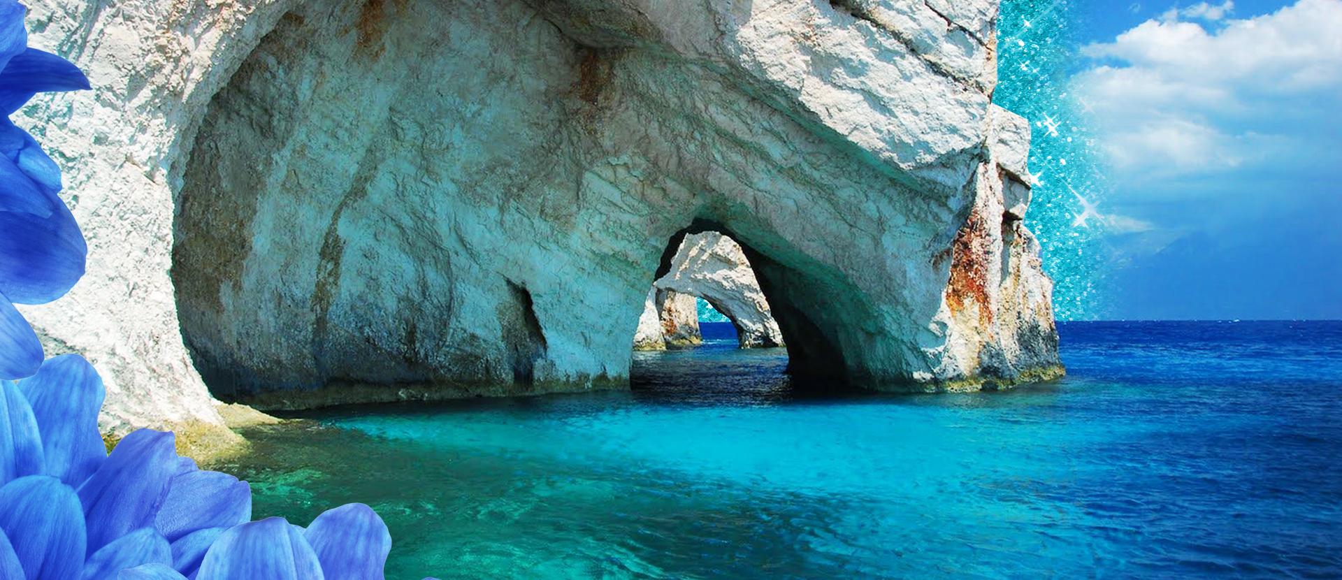 Le Blue Caves a Zante, luogo di rara bellezza nell'isola dei poeti